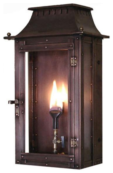 Williamsburg Copper Gas Lanterns, 18, Natural Gas.
