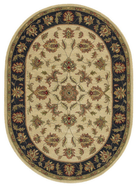 L R Resources Inc Shapes Rug Ivory 8 X10 Oval
