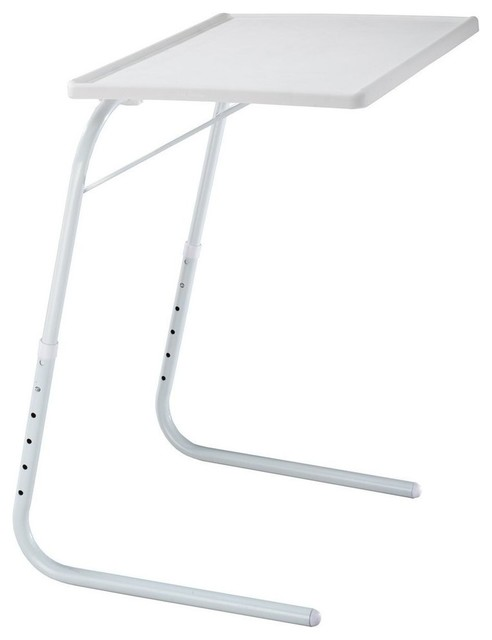 My Comfy Bedside Table, Foldable Table Mate Bedside Laptop Table, White  Contemporary Folding