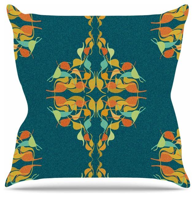 Dan Sekanwagi Turquoise Feast Teal Orange Throw Pillow Fascinating Teal And Orange Decorative Pillows