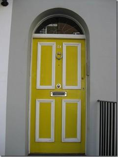 Chelsea Yellow Door traditional exterior