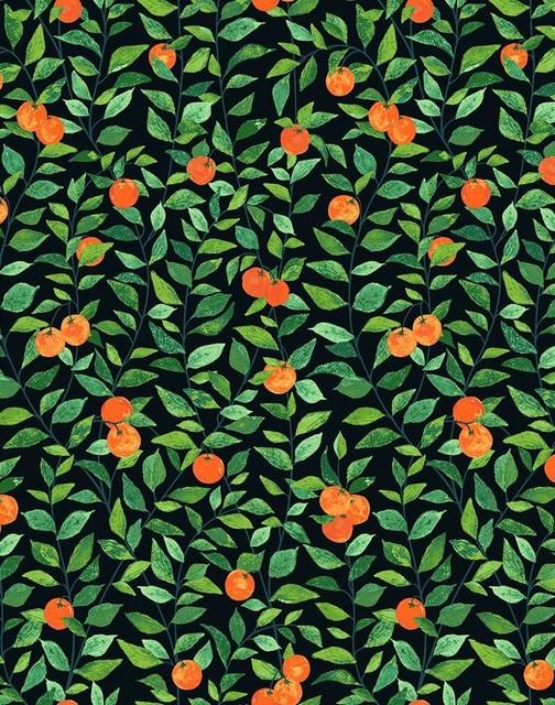 Orange Crush by Nathan Turner, Onyx - Farmhouse - Wallpaper - by Wallshoppe