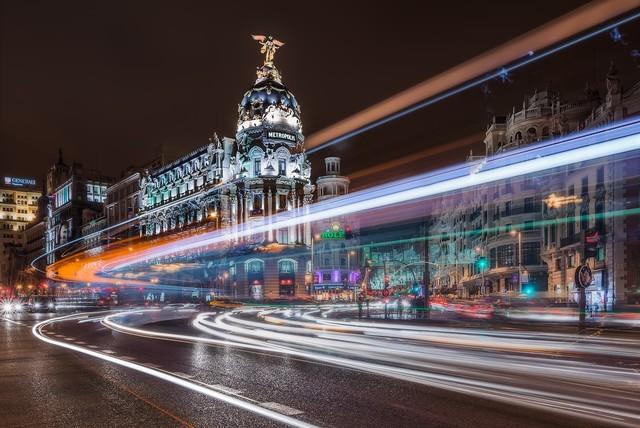 Madrid Traffic Wall Mural