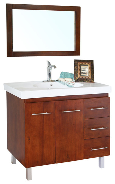 39 inch single sink vanity wood contemporary bathroom vanities and sink consoles by corbel. Black Bedroom Furniture Sets. Home Design Ideas