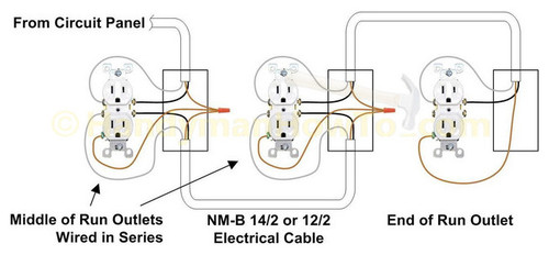 how to connect 2 ground wires 1 outlet if the device in the illustration is removed only the ground path remains continuous