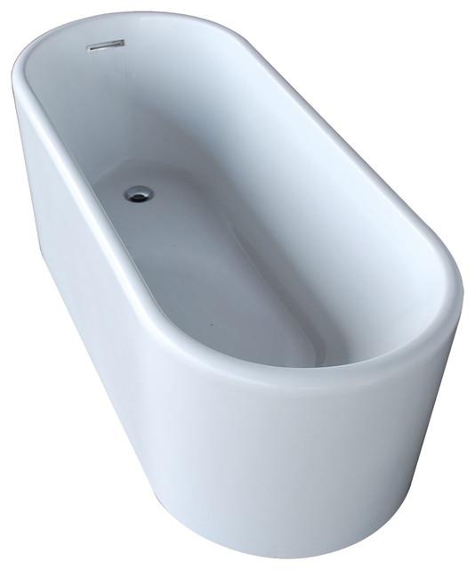 Vida Collection Oval Acrylic Freestanding Bathtub - Contemporary ...