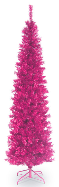 Pink Tinsel Tree 7