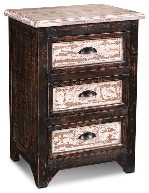 Landon 2 Tone 3 Drawer Curio Cabinet