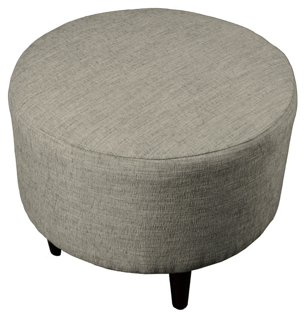 Astonishing Sophia Fabric Ottoman With Round Espresso Finished Legs Gmtry Best Dining Table And Chair Ideas Images Gmtryco