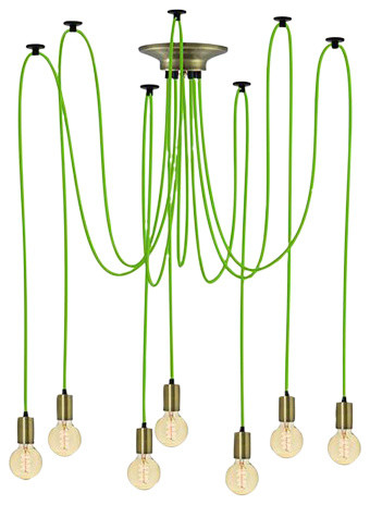 Green And Brass Ceiling Light