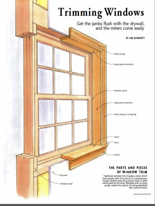 Wood Window Parts : Correct way to trim a window