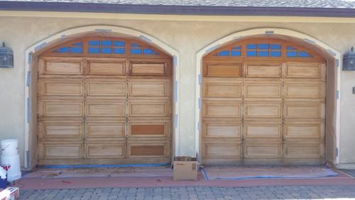 Refinishing Gorgeous Garage Doors
