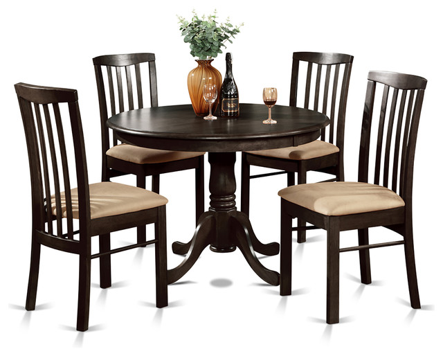 Hart cap kitchen table set traditional dining sets for Traditional round dining table sets