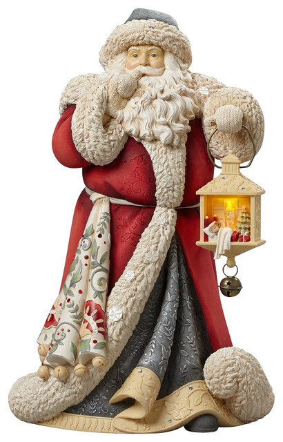Enesco Heart of Christmas Deluxe Santa Masterpiece Lighted ...