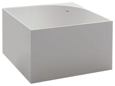 Tub Square Bathtub, Glossy White