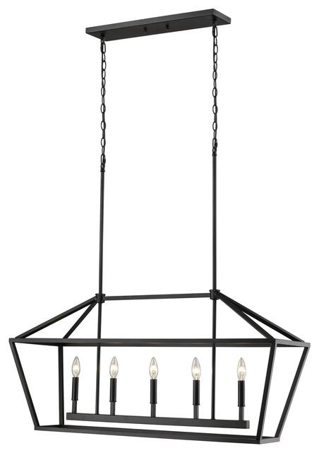 Millennium Lighting Corona Pendant, Matte Black