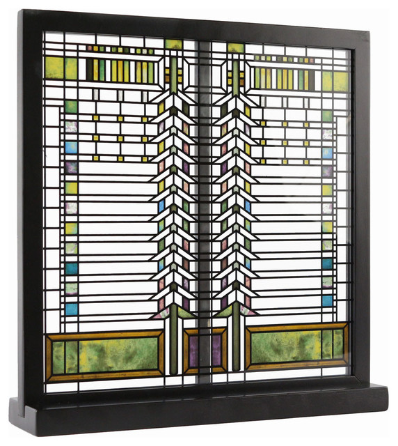 Frank Lloyd Wright Stained Glass Patterns.Frank Lloyd Wright Martin Casement Window Stained Glass