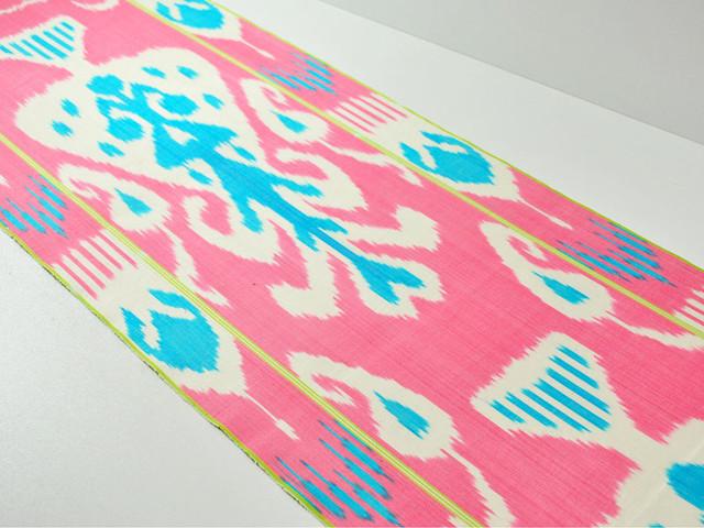 pink ikat fabric