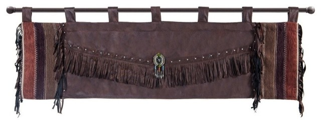 Mojave Sunset Faux Leather Southwest Valance.