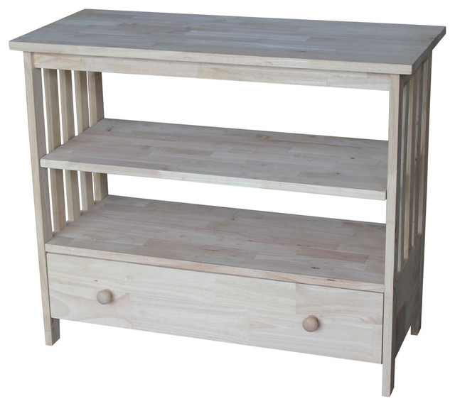 """Mason Mission Entertainment And Tv Stand, 36""""."""