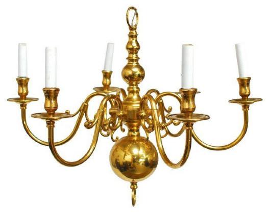 dutch style brass chandelier chandeliers - Brass Chandelier