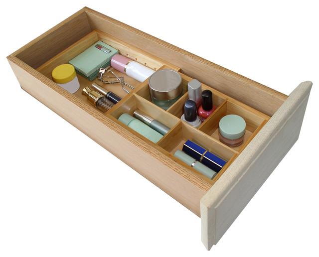 natural wood expandable small drawer organizer kitchen