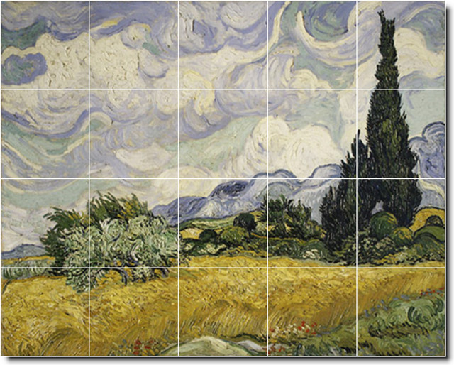 Picture tiles llc vincent van gogh country painting for Ceramic mural painting