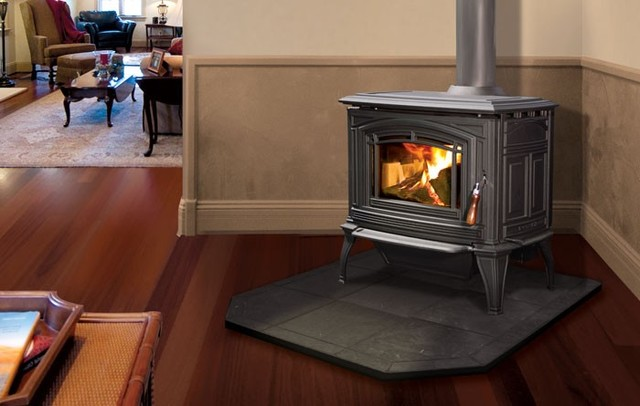 Enviro Boston 1200 Cast Iron Freestanding Wood Stove traditional-living-room - Enviro Boston 1200 Cast Iron Freestanding Wood Stove - Traditional