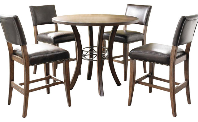 Hillsdale Furniture 5-Piece Cameron Round Counter Height Dining Set.
