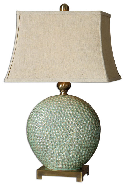 Uttermost Destin One Light Brushed Coffee Bronze Table Lamp.