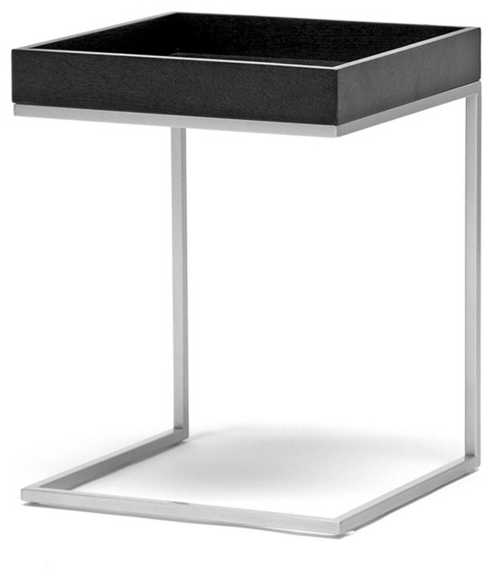 Black Wood Top C Table Modern Side Tables And End Tables