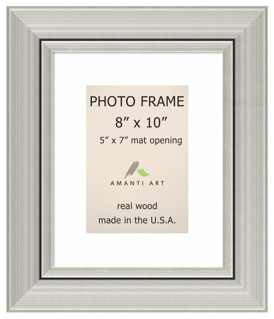 Picture Photo Frame 8x10 Matted To 5x7 Romano Silver Outer Size