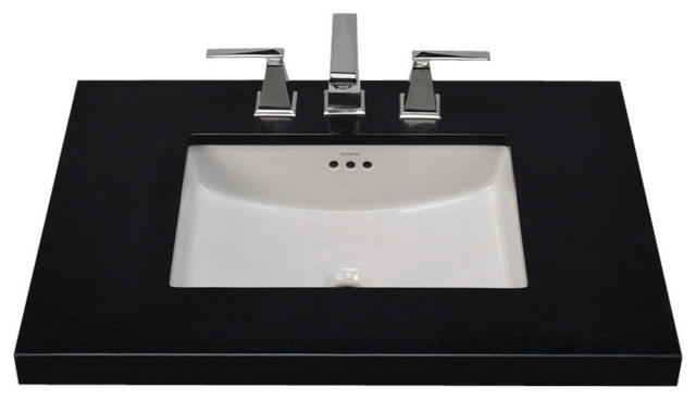 undermount sinks kitchen ronbow rectangle ceramic undermount bathroom sink 3031