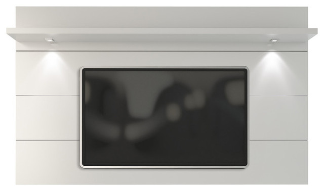 Cabrini Floating Wall Tv Panel 2.2, White Gloss.