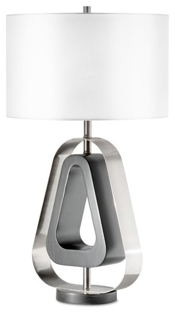 Napoleon Table Lamp, Charcoal Gray.