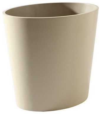 Barbara barry elegant oval waste bin contemporary wastebaskets by gore dean home and design - Elegant wastebasket ...
