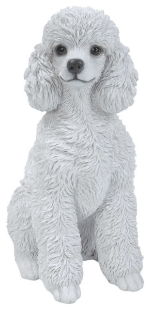 White Toy Poodle Dog Garden Statue 12 5 Quot Transitional