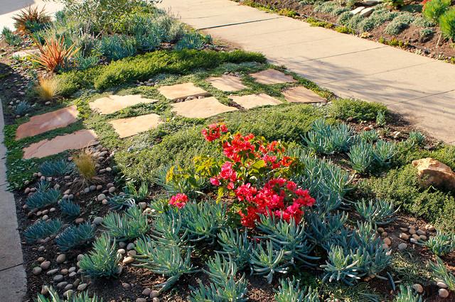 Spanish Drought Tolerant Garden Natural Stone Path