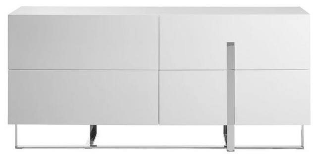 High Gloss White Lacquer Dresser