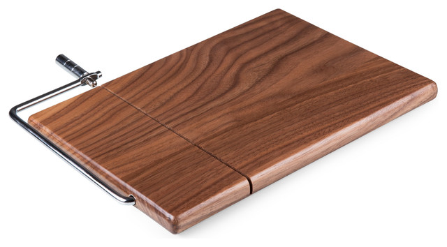 Meridian Black Walnut Cutting Board And Cheese Slicer Black Walnut