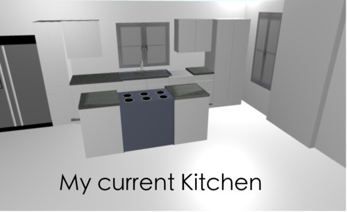 Here Is A Bad Rendering Of My Kitchen Now