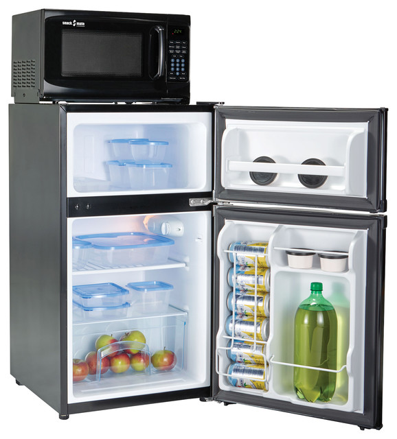 Snackmate By Microfridge Fridge Freezer Microwave Combo 3 1 Cu Ft Black