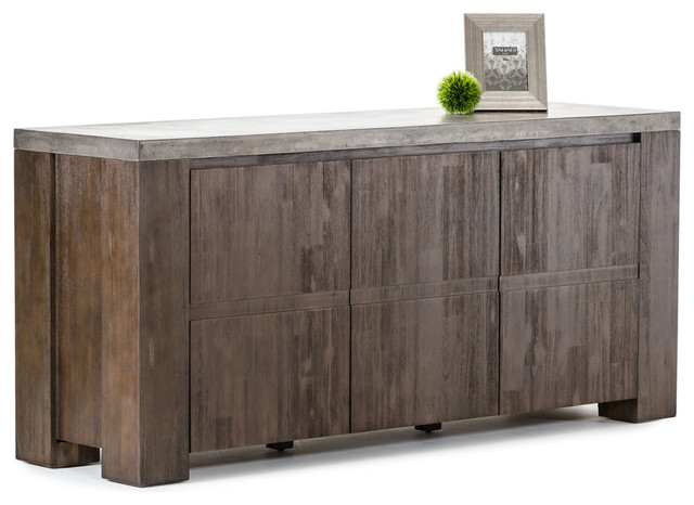 Modrest Urban Modern Concrete Top Buffet Rustic Buffets And Sideboards
