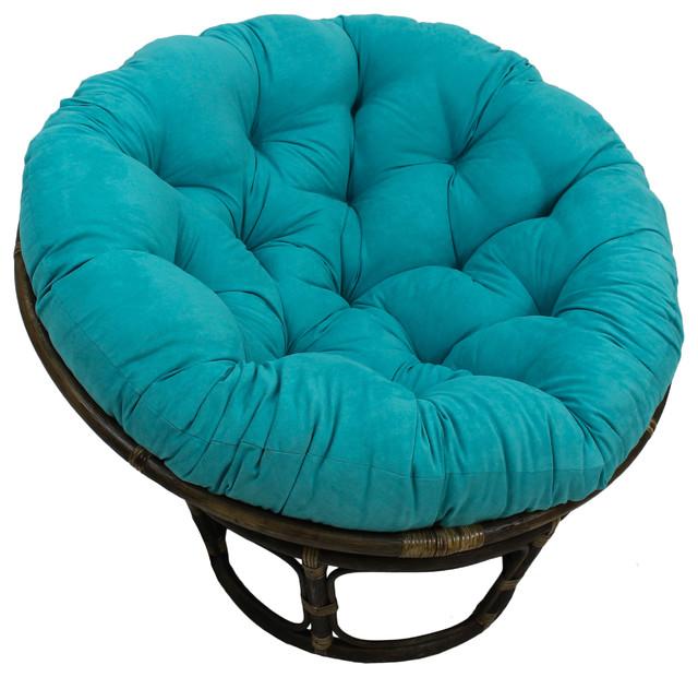 Miraculous 44 Solid Micro Suede Papasan Cushion Fits 42 Papasan Frame Aqua Blue Dailytribune Chair Design For Home Dailytribuneorg