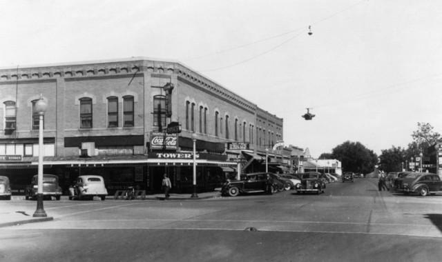 Prosser Washington Street Scene View Of The Strand Hotel Print