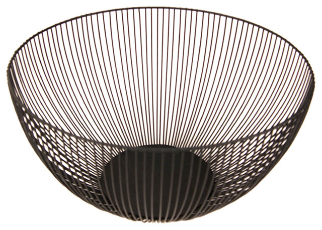 12 Tall Kai Wire Fruit Bowl Black Bowls And Baskets By Ctg Brands Inc