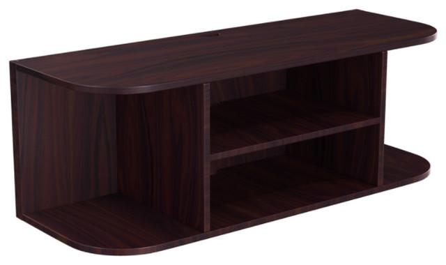Stony Edge Wood Tv Wall Mount Shelf Espresso