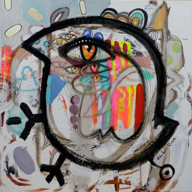 """urban Bird"" Artwork, 30"" X 30""."