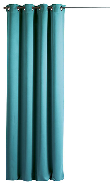 Blackout Window Curtain Panel Square Grommets Cocoon Solid Color 55 X102 Contemporary