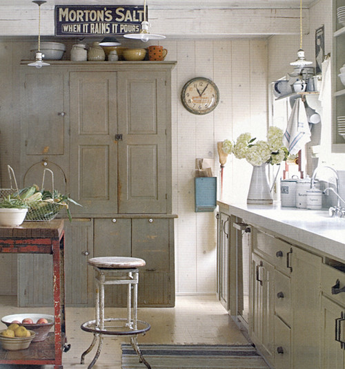 Eclectic White Kitchen: Kitchen Plans And Open Shelving